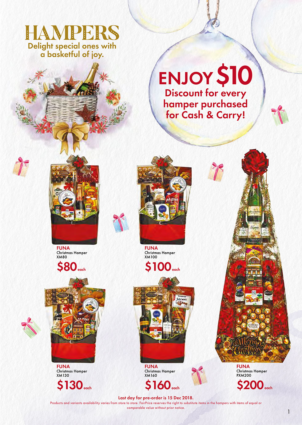 FairPrice Christmas Catalogue - Hampers