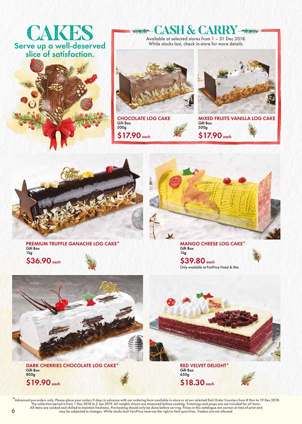 FairPrice Christmas Catalogue - Cakes
