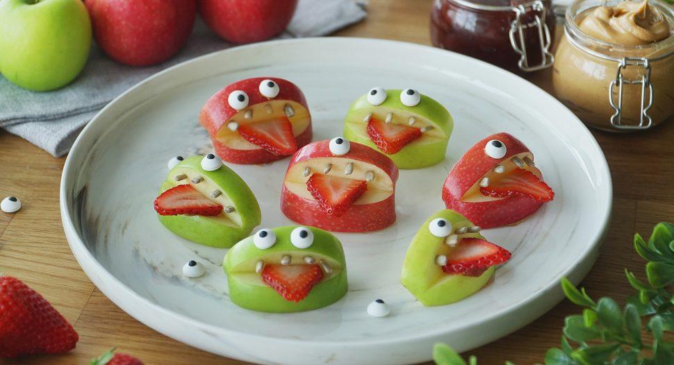 Halloween Silly Fruit Bites