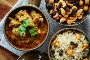 Mutton Korma with Saffron Rice