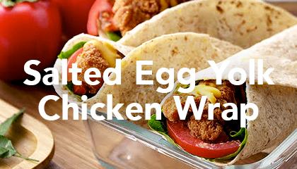 Salted Egg Yolk Chicken Wrap