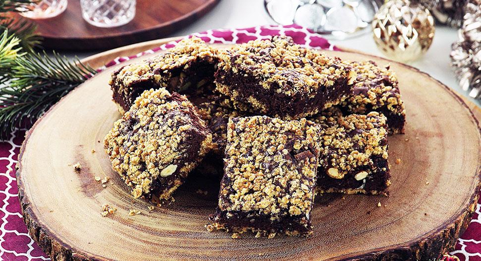 Apple & Hazelnut Oats Brownies