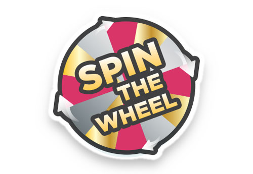 Spin the Wheel - win up to $8.400 worth of prizes