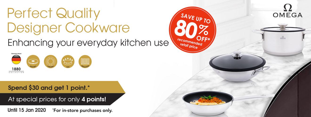 Omega Cookware - Till 15 Jan 2020