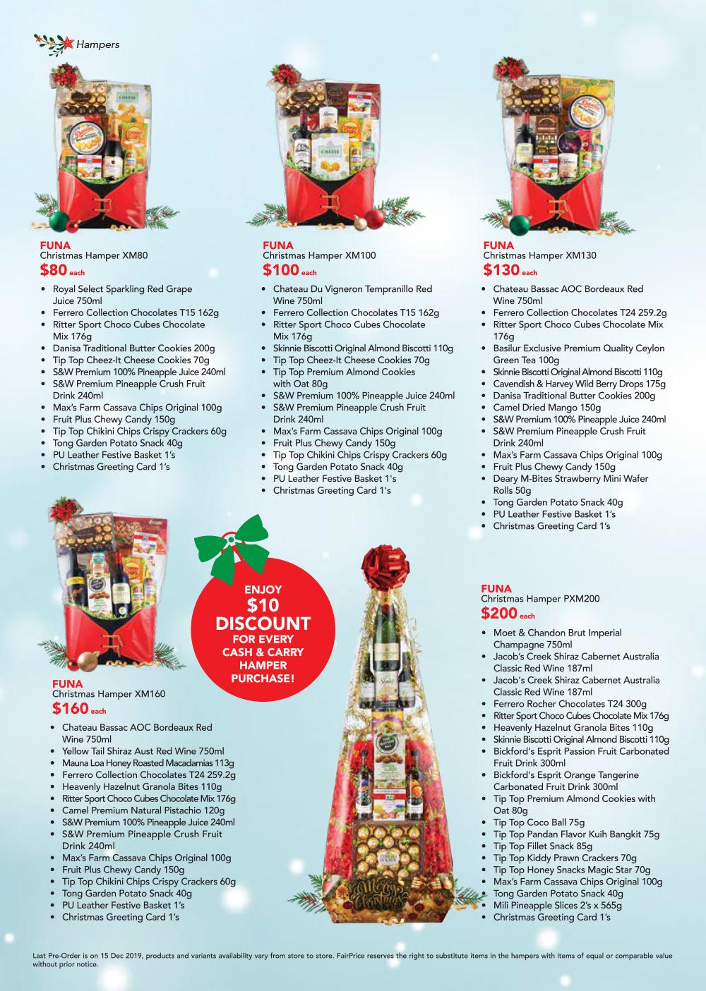 Christmas Catalogue 2019 Hamper Fairprice
