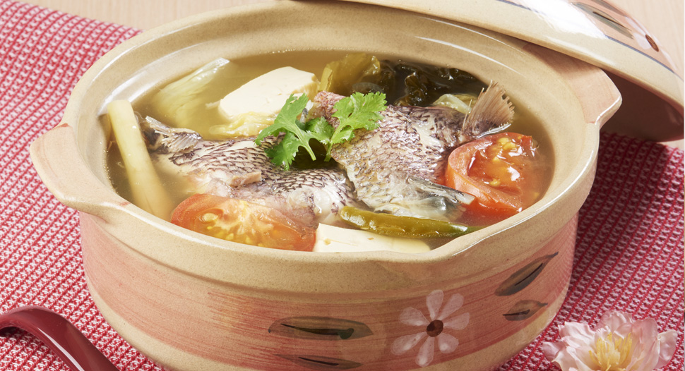 Delectable Fish Wing in Sour Chicken Broth