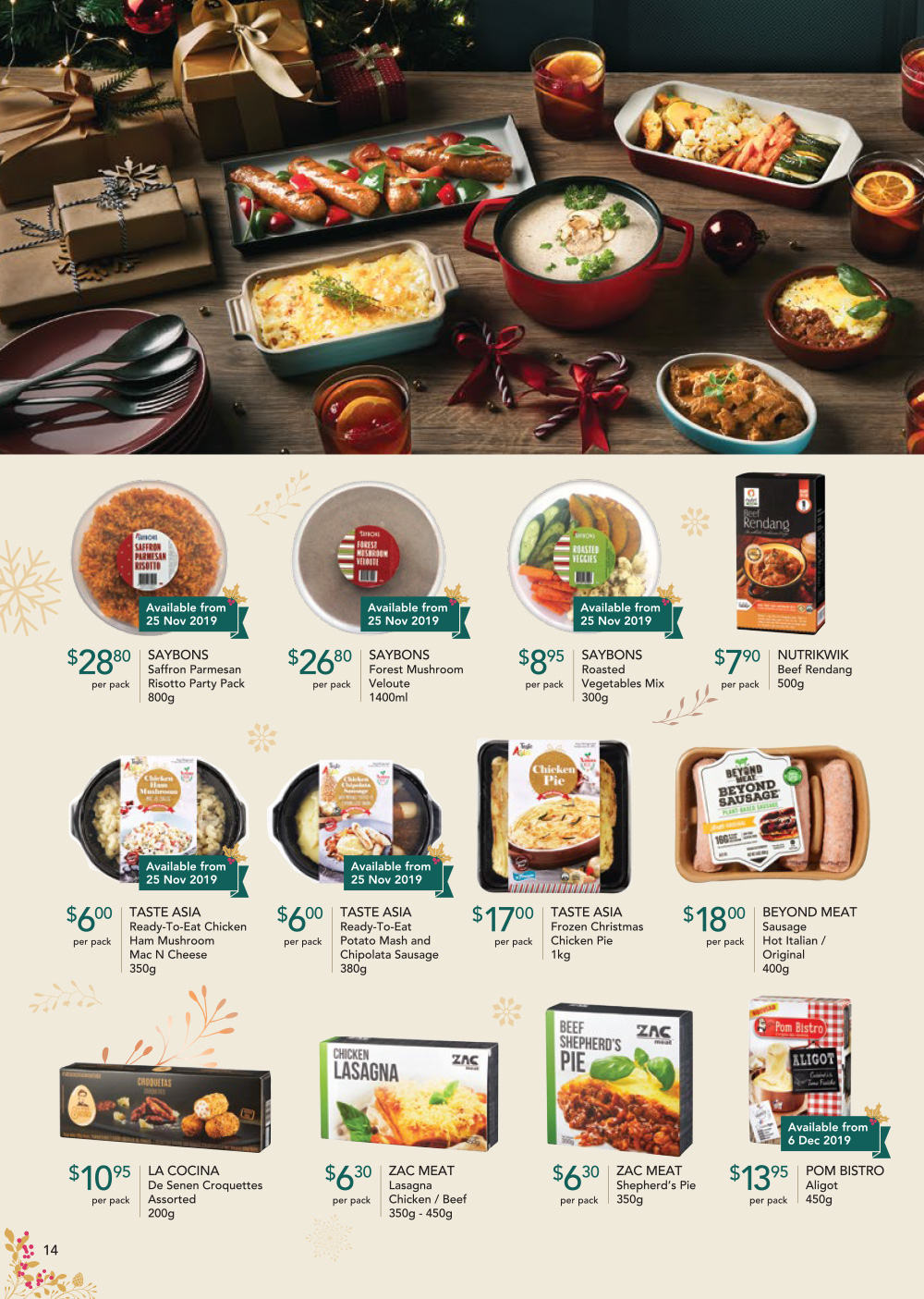 FairPrice Finest Christmas Catalogue 2019 - Ready-to-eat