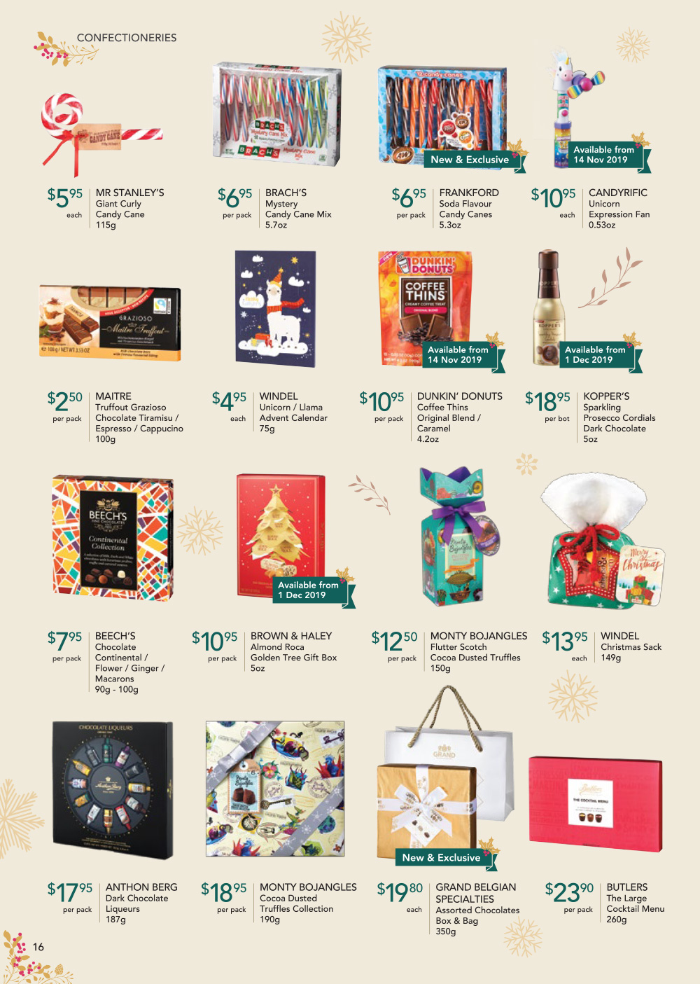 FairPrice Finest Christmas Catalogue 2019 - Confectioneries