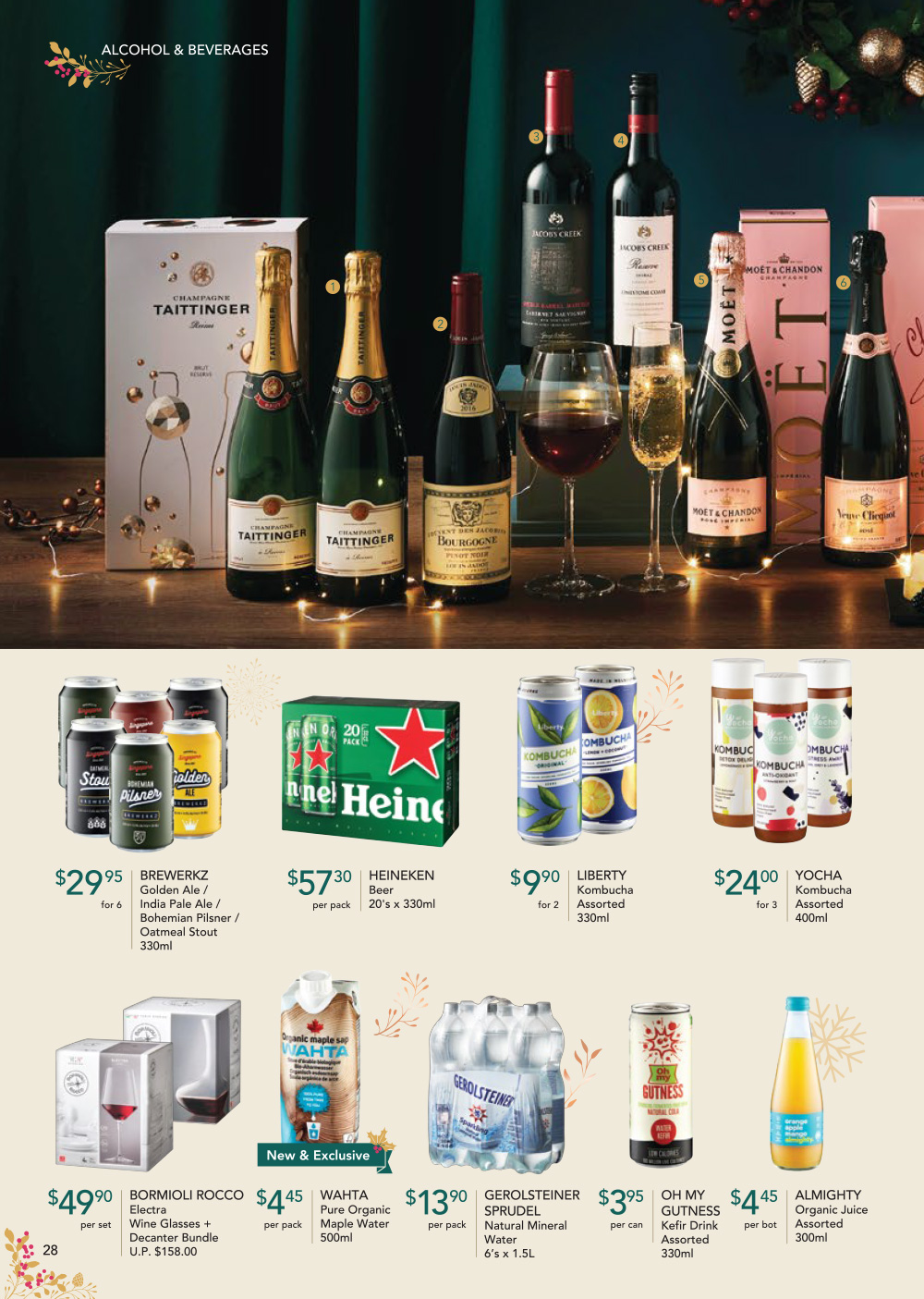 FairPrice Finest Christmas Catalogue 2019 - Alcohol and Beverages