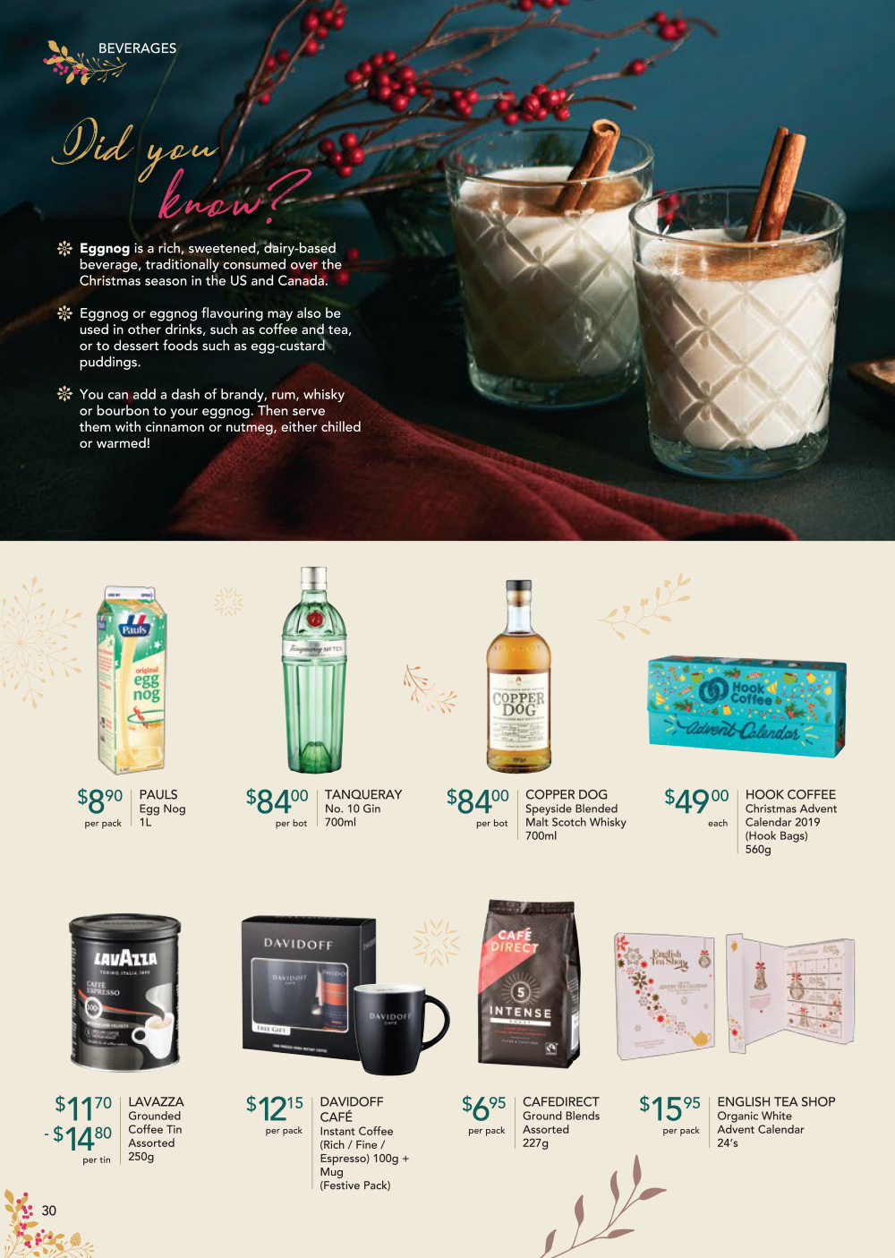 FairPrice Finest Christmas Catalogue 2019 - Beverages