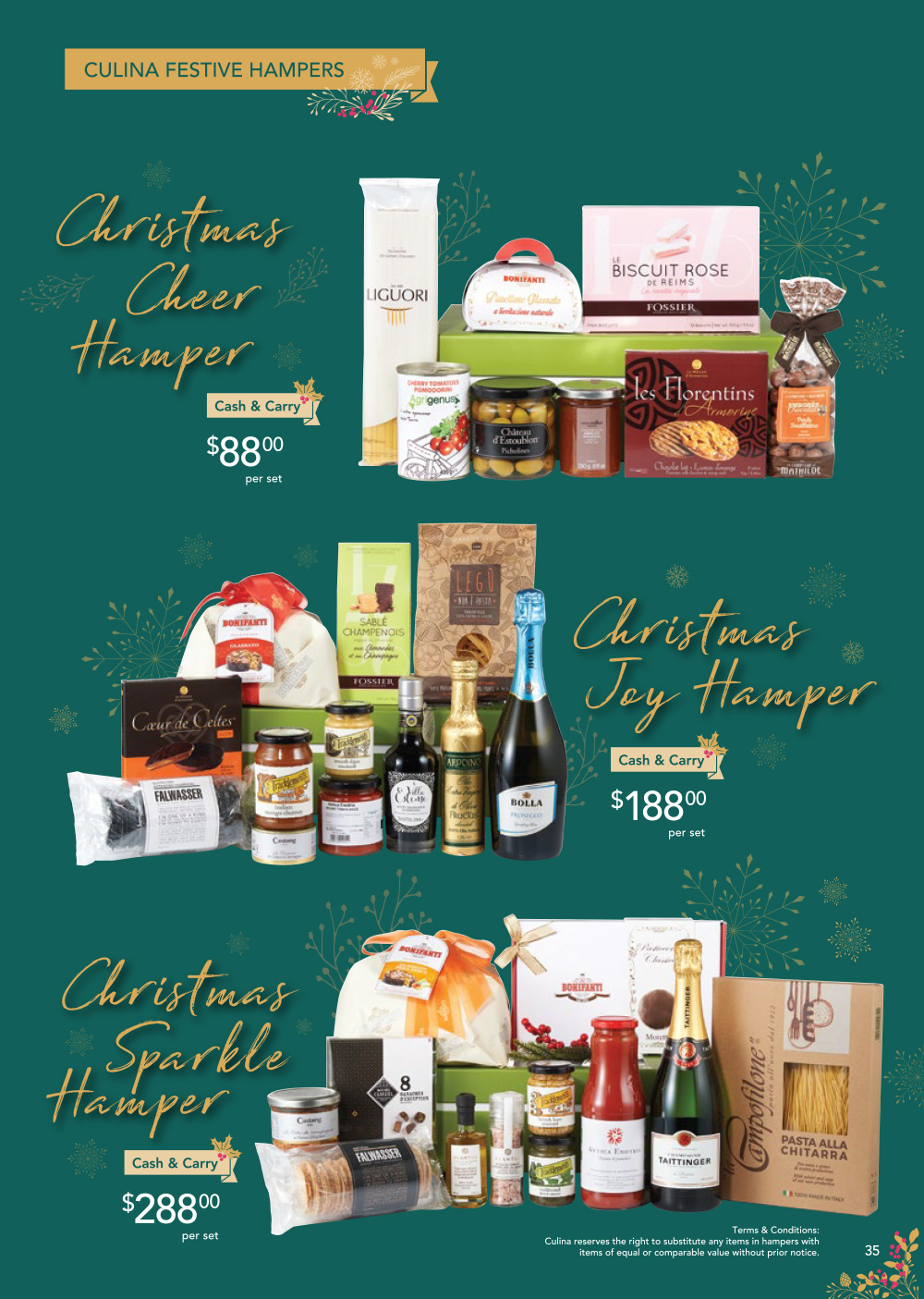 FairPrice Finest Christmas Catalogue 2019 - Culina Festive Hampers