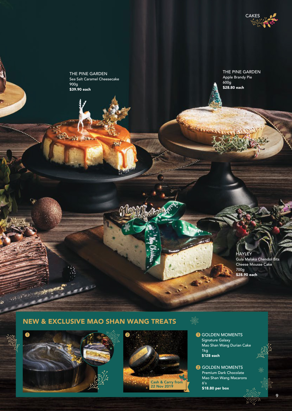 FairPrice Finest Christmas Catalogue 2019 - Cakes