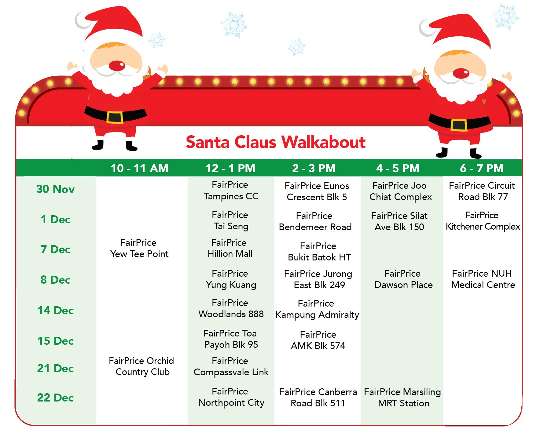 FairPrice Christmas - Santa Claus Walkabout