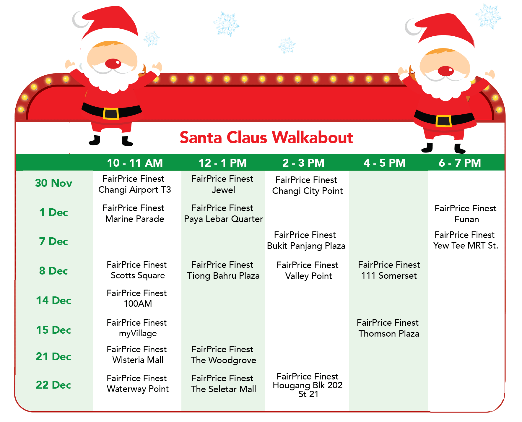 FairPrice Finest Christmas - Santa Claus Walkabout