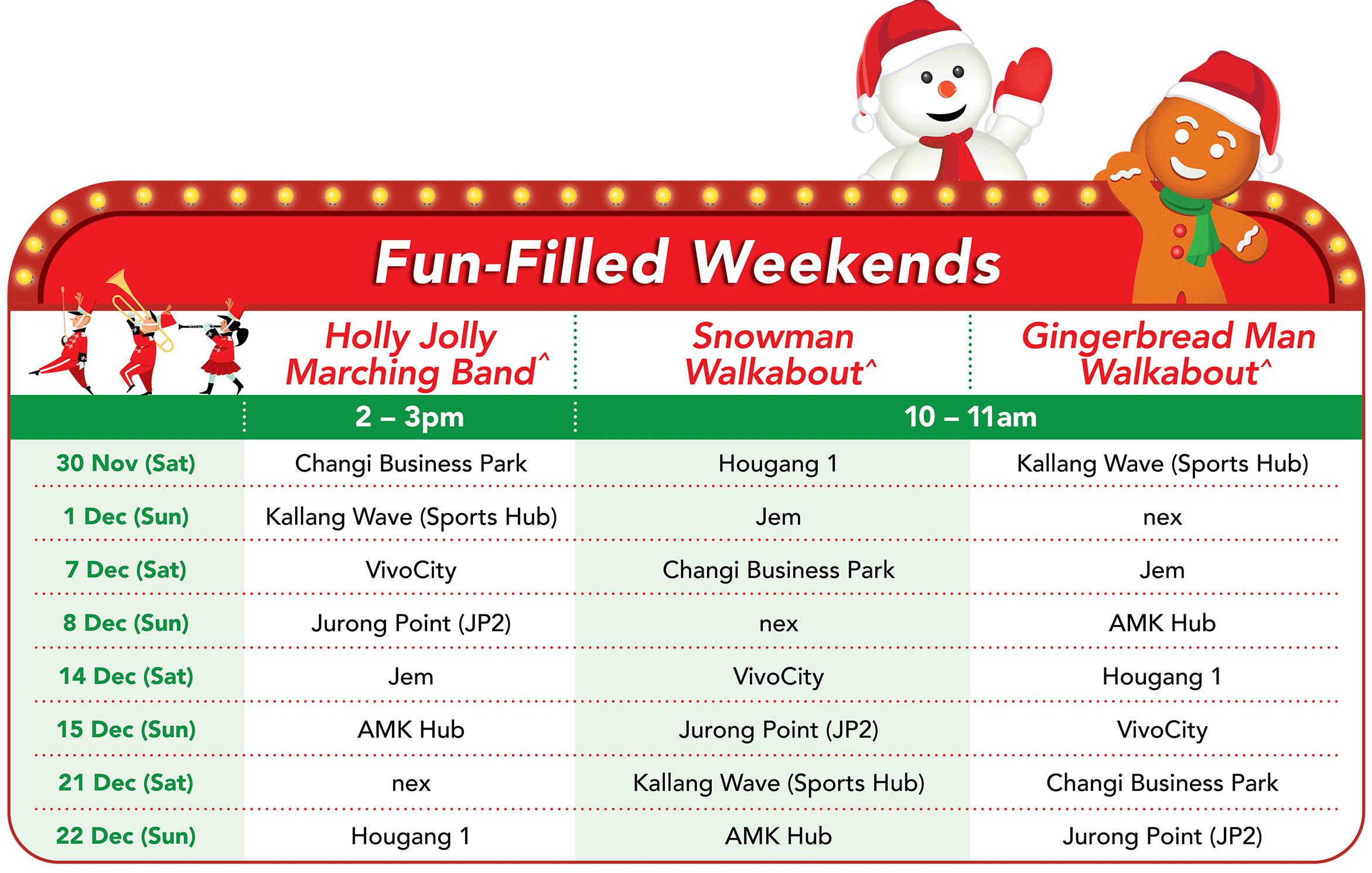 FairPrice Xtra Christmas Activities