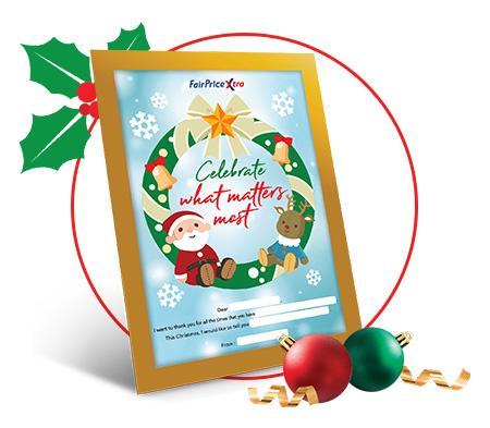 FairPrice Xtra - Christmas Frame & Sticker