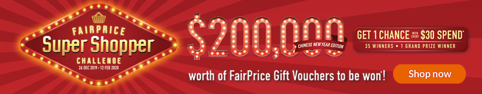 Shop for Chinese New Year goodies and be our FairPrice Super Shopper