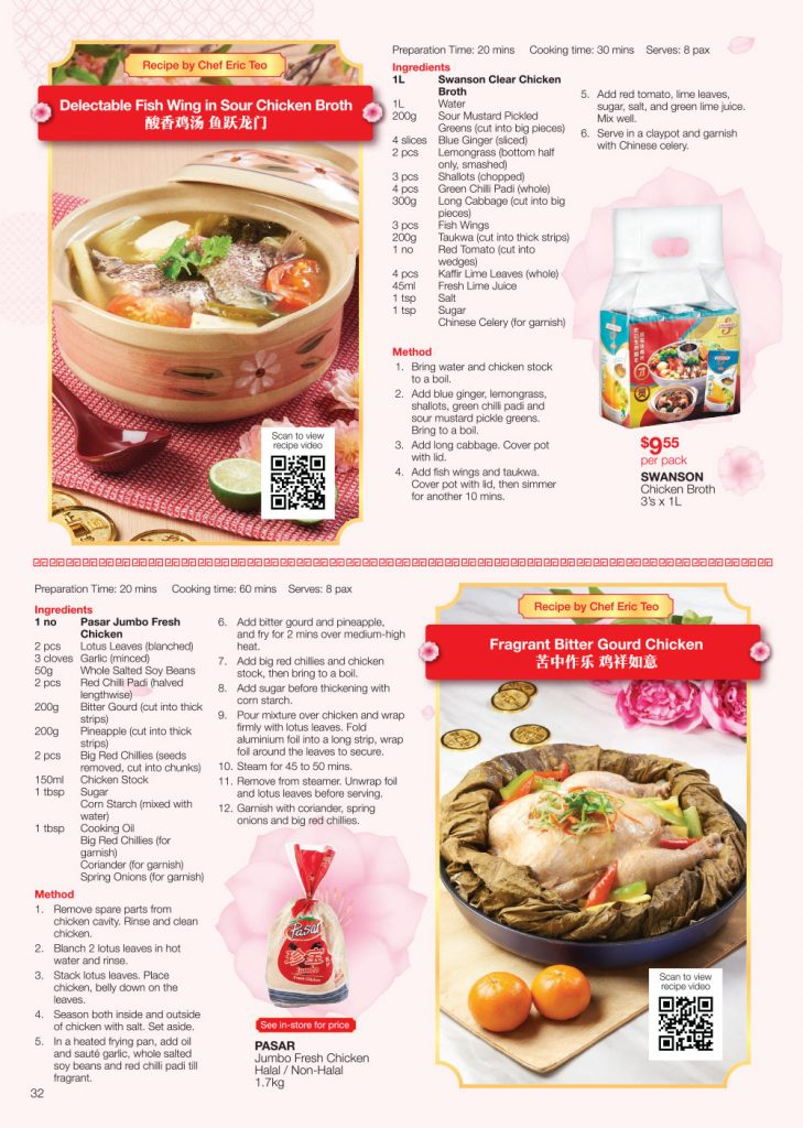 FairPrice Chinese New Year-Catalogue Traditional Dinners Recipes