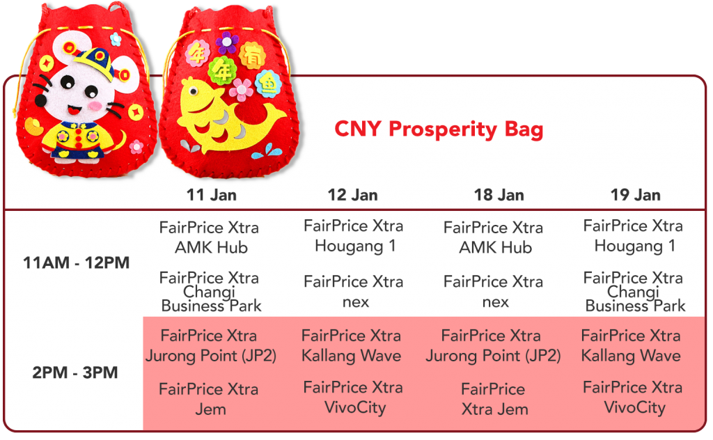 CNY Prosperity Bag - Exclusively at FairPrice Xtra
