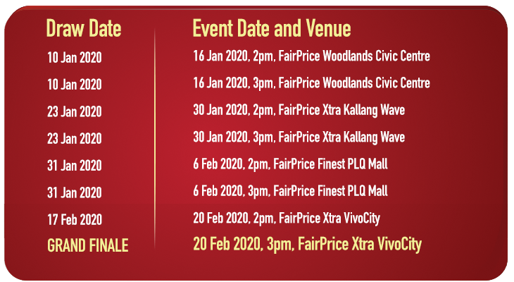 FairPrice Super Shopper Challenge Event Dates - Chinese New Year Edition