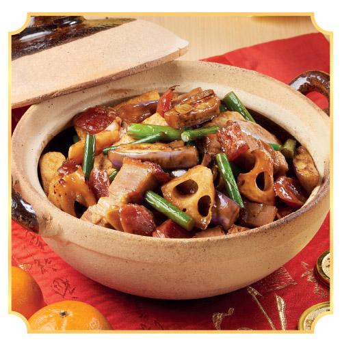 Abundant Claypot With Abalone Sauce