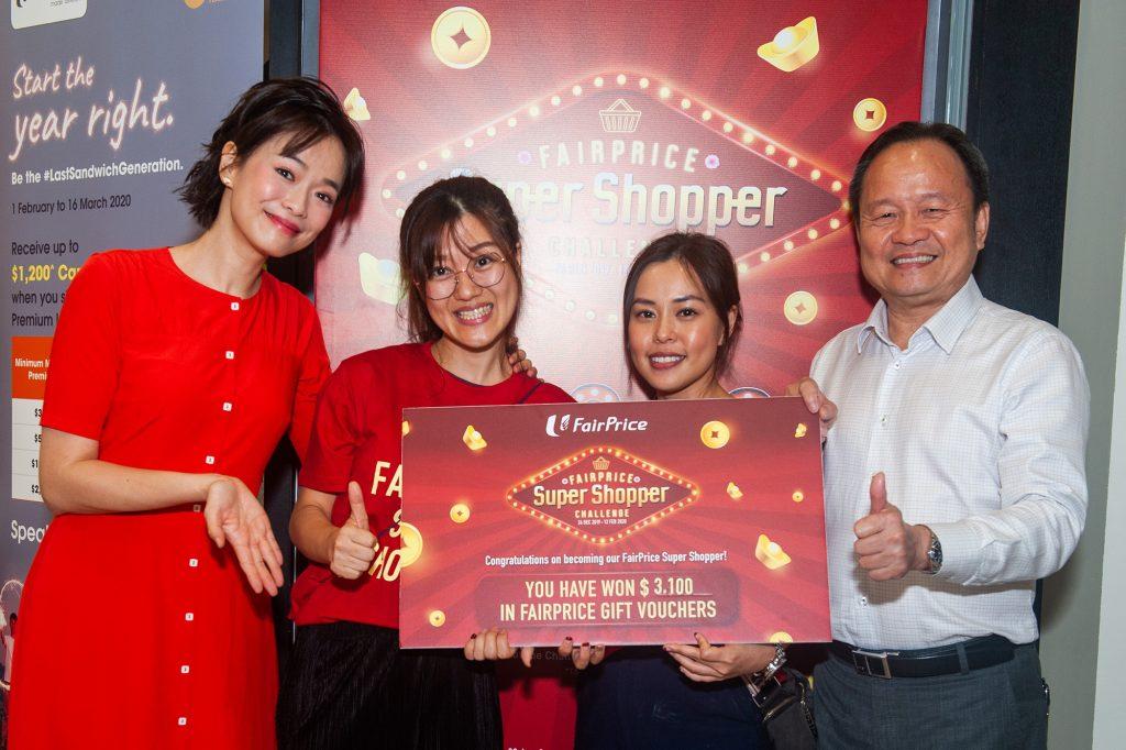 Super Shopper 6 Feb 2pm Top Winner - Wu Pei Huan won $3,100