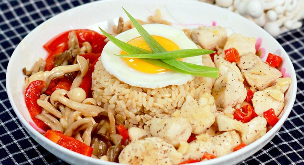 Chicken Capsicum Rice Bowl