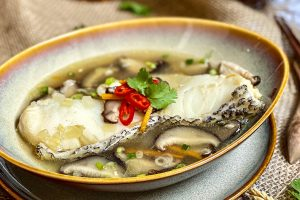 Cod in Garlic-Ginger Broth
