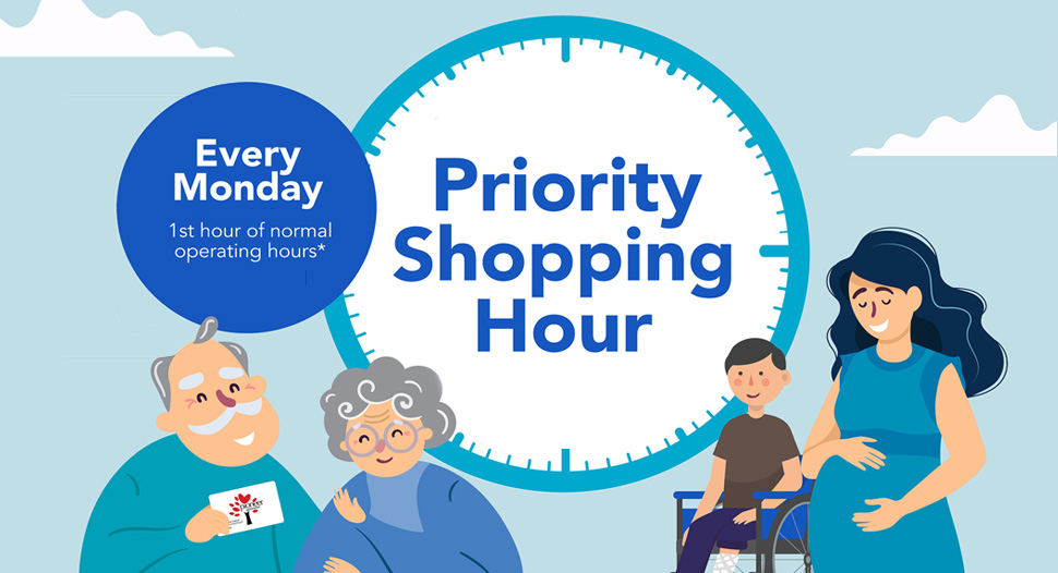 Priority shopping hour