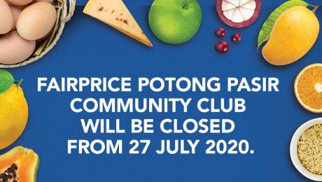 Closure of FairPrice Potong Pasir Community Club