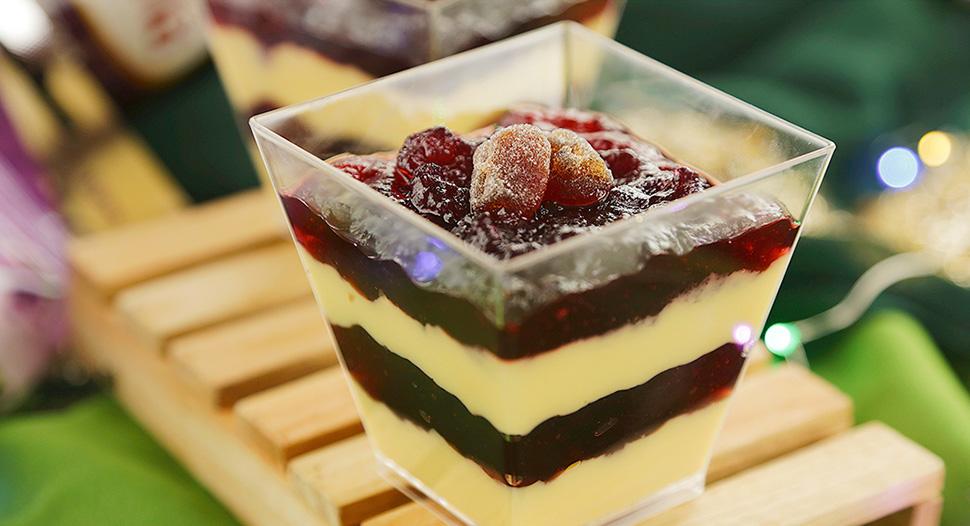 Ribena Blackcurrant Milk Pudding