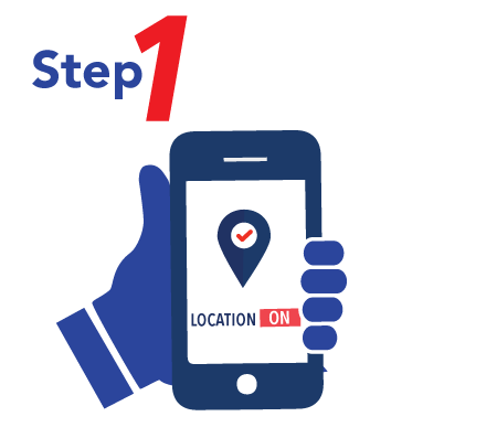 How to use Scan & Go - Turn on in-app location