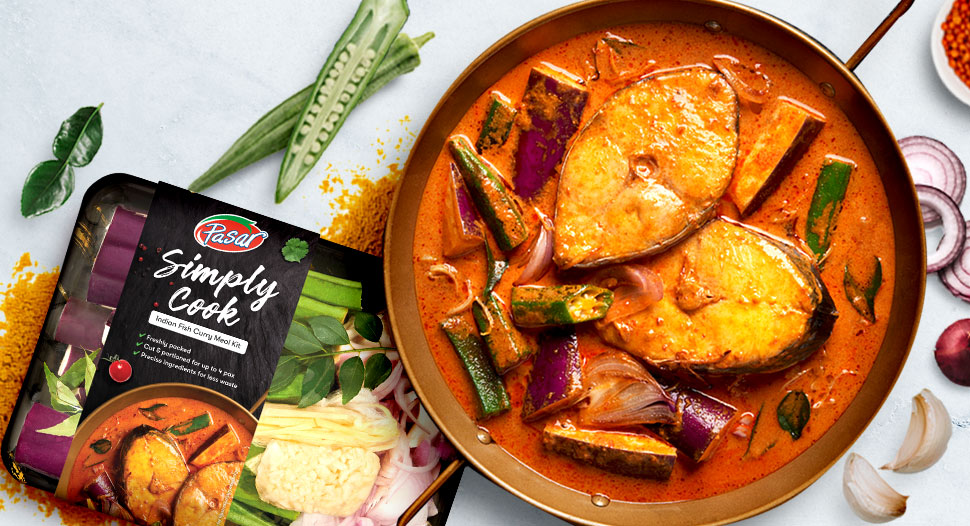 Simply Cook Vegetable Kit – Indian Fish Curry