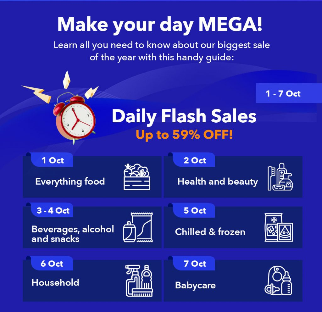 Make your day MEGA! Flash sales from 1 - 7 Oct