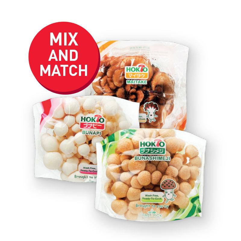 HOKTO Mushrooms Buna Shimeiji/ White Shimeiji/ Maitake 100g
