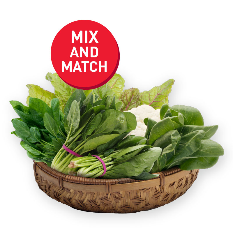 VALUE FRESH Vegetables Chye Sim /Kang Kong / Red Spinach / Round Spinach / Sharp Spinach 200g