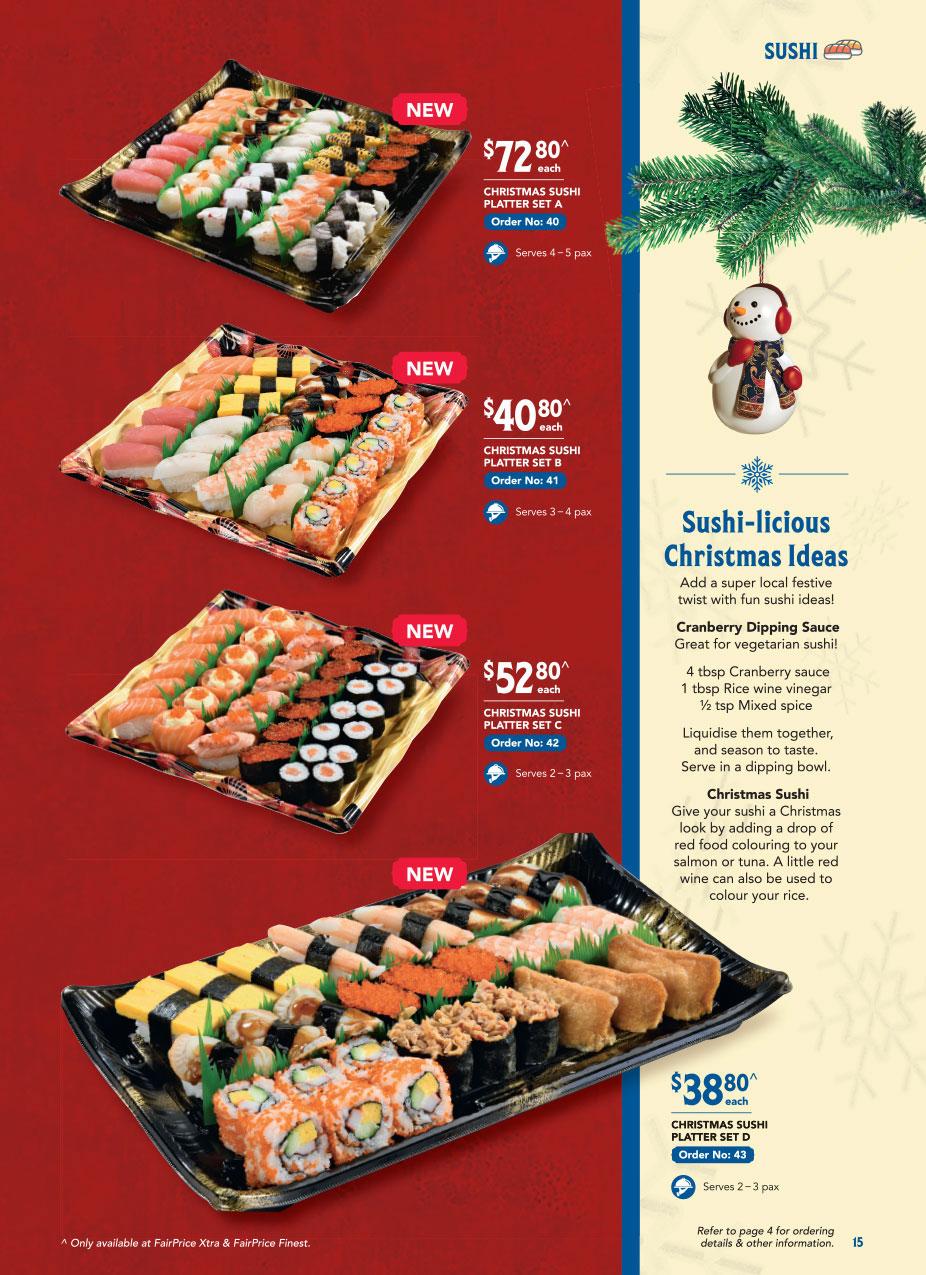 FairPrice Christmas Catalogue 2020 - Sushi