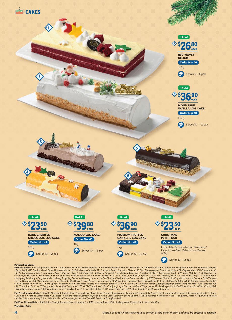 FairPrice Christmas Catalogue 2020 -Cakes