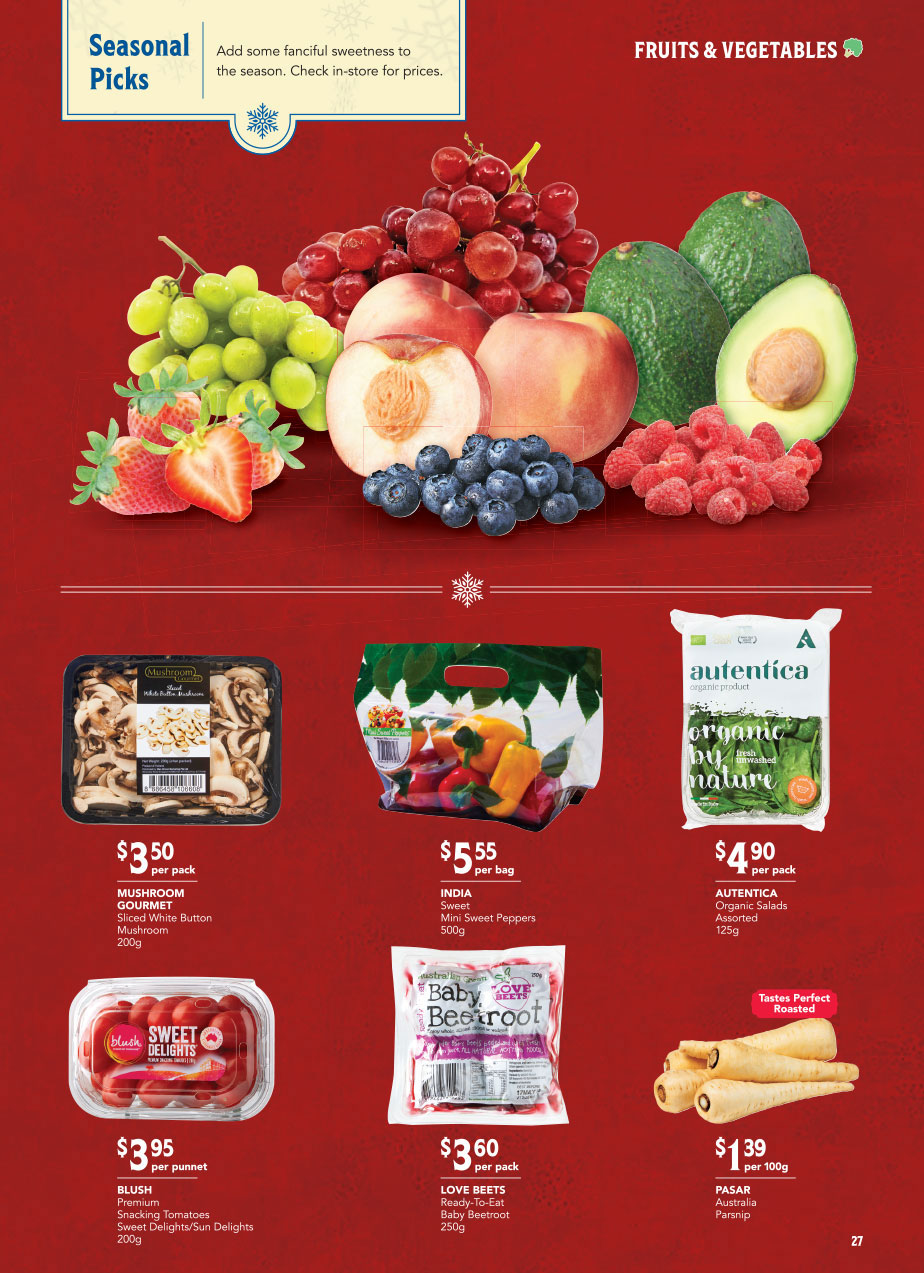 FairPrice Christmas Catalogue 2020 - Fruits & Vegetables