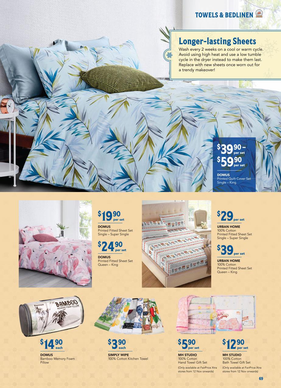 FairPrice Christmas Catalogue 2020 - Towels & Bedlinen
