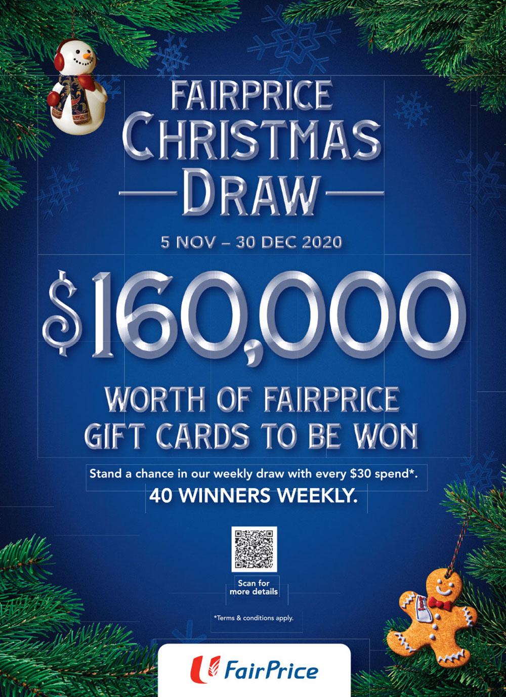 FairPrice Christmas Catalogue 2020 - Christmas Draw