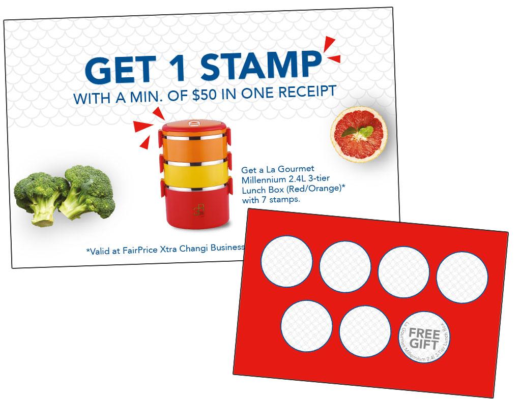 Rewards stamp card