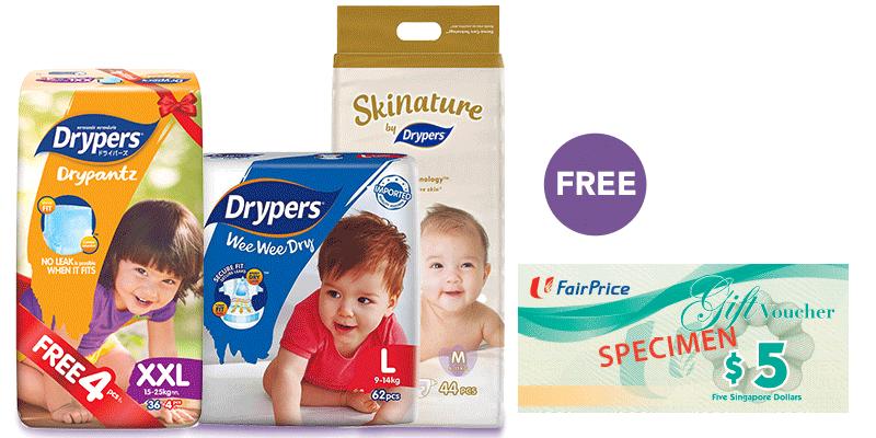 Drypers - Free $5 Gift Vouchers