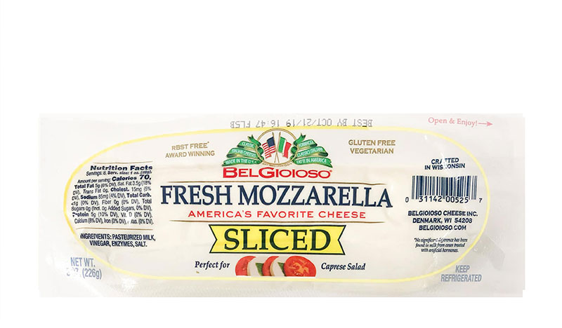 BELGIOIOSO Fresh Mozzarella Sliced Log 226g
