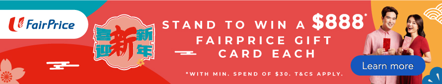 FairPrice Chinese New Year - Win $888 Gift Card