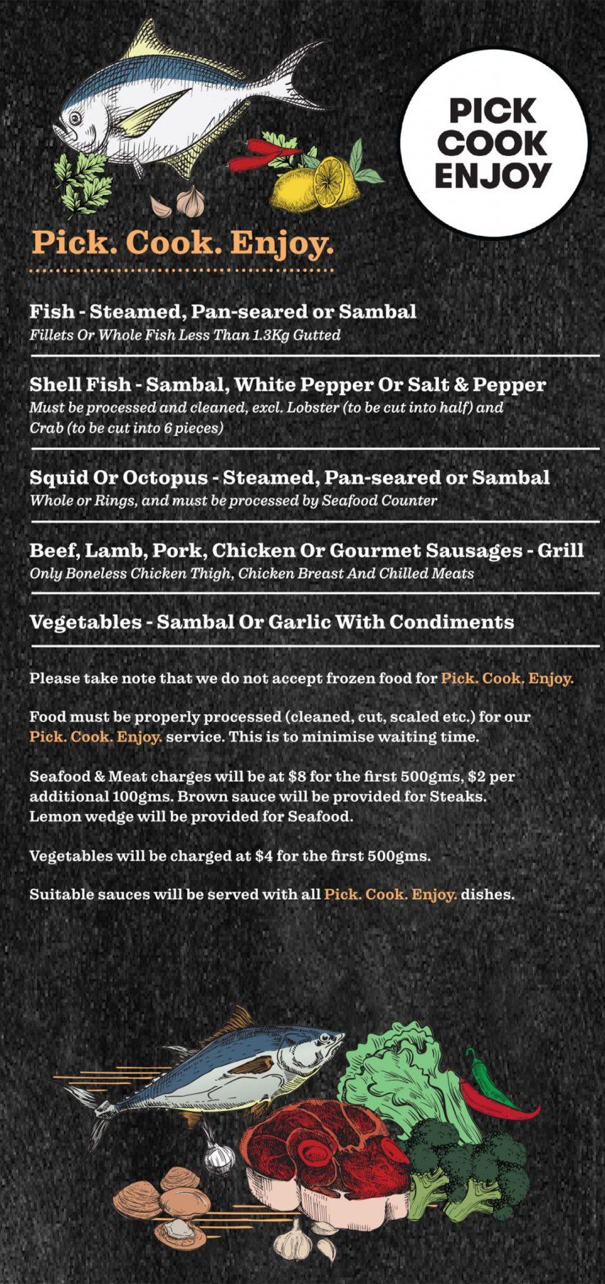 Ban Tong Seafood Pick Cook Enjoy Menu