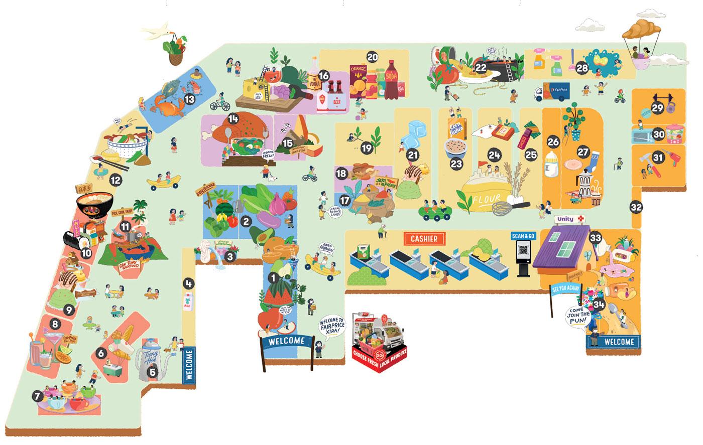 FairPrice Parkway Parade Map