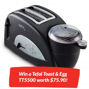 Win a Tefal Toast & Egg TT5500 worth $75.90!