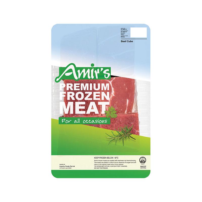 AMIR'S Frozen Beef Cube 500g