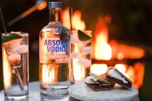 Absolut Blue Vodka with Fanta Orange
